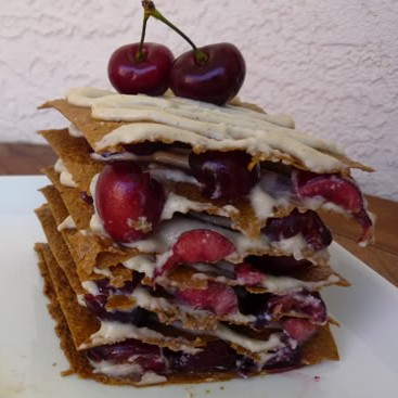 Raw Peach and Cherry Napoleons