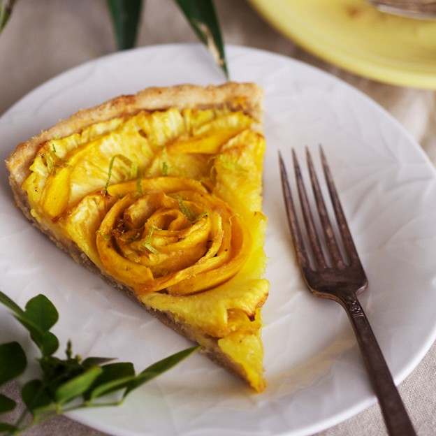 Pineapple and Mango Tart