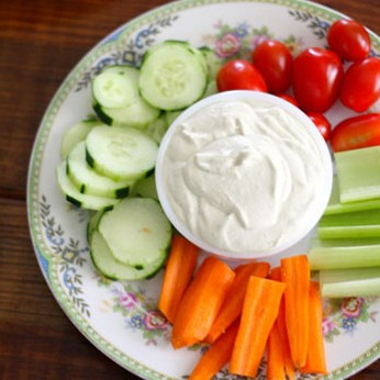 Garlic Onion Veggie Dip from Food Loves Writing