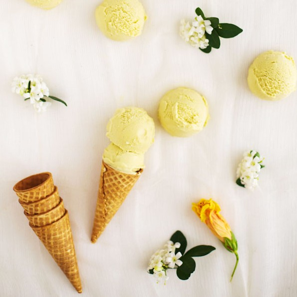 Kaffir Lime Mango Ice-Cream