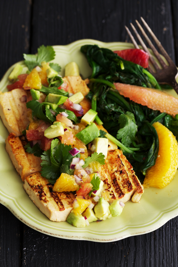 Ginger Marinated Tofu with Citrus Salsa - SoulSpring ...