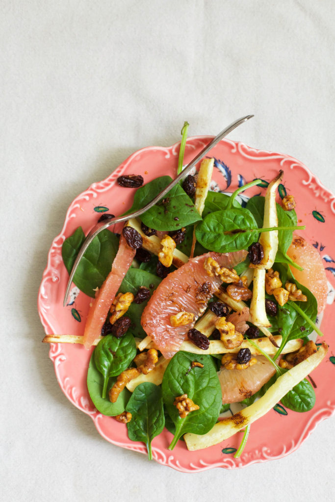 Roasted Parsnip and Pomelo Salad