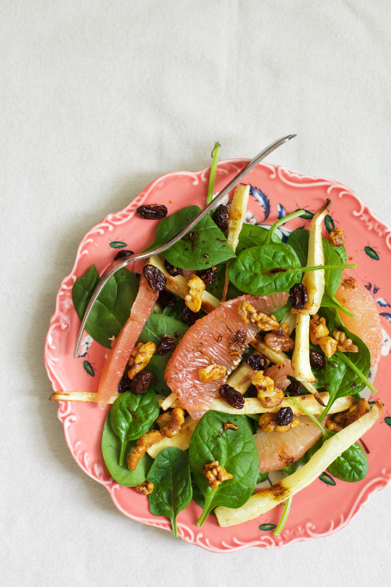 Roasted Fall Salad With Parsnips, Brussels Sprouts, And Grapes Recipes ...