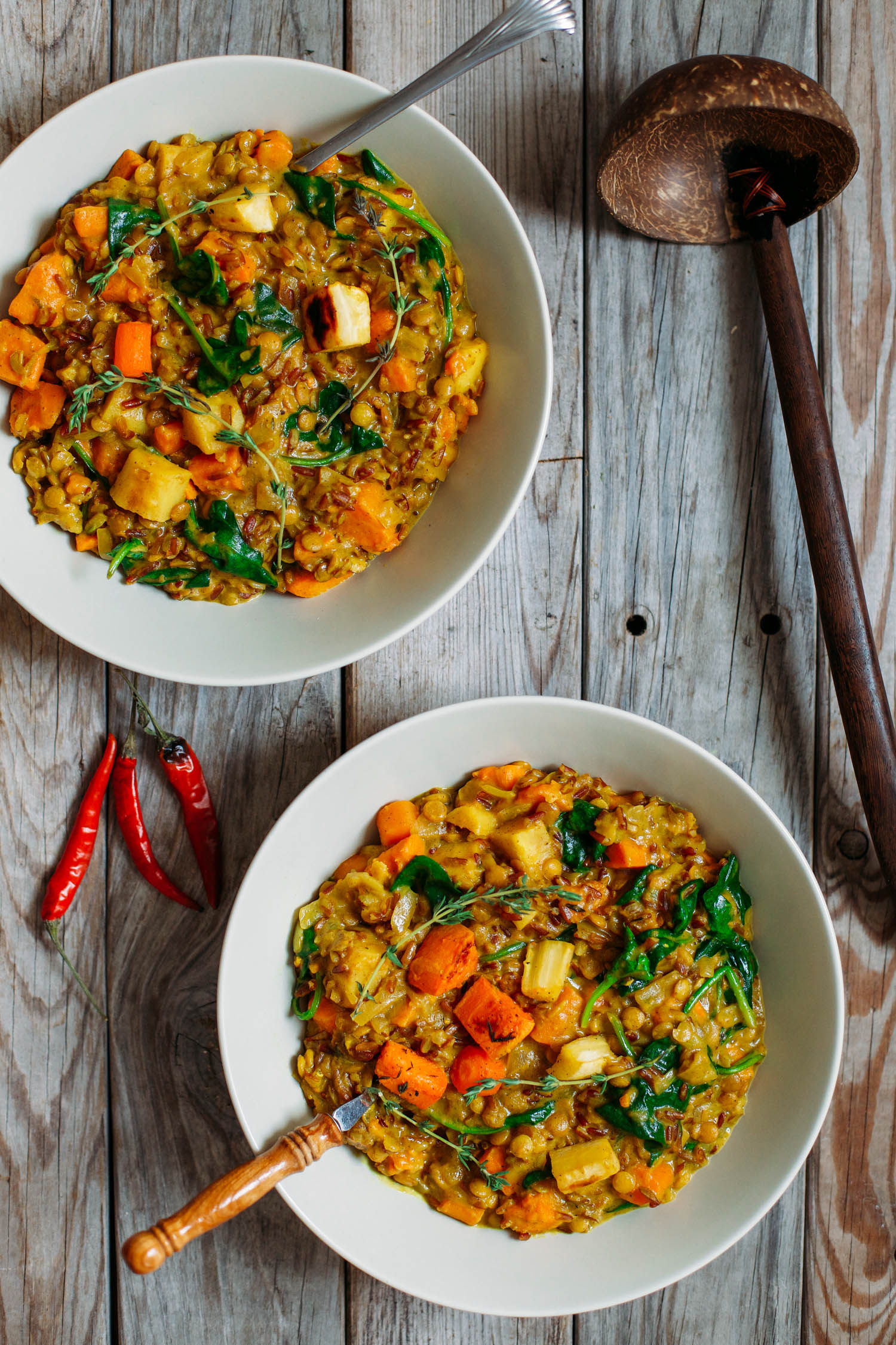 Roasted Root Vegetable, Red Rice and Lentil Stew - Golubka Kitchen