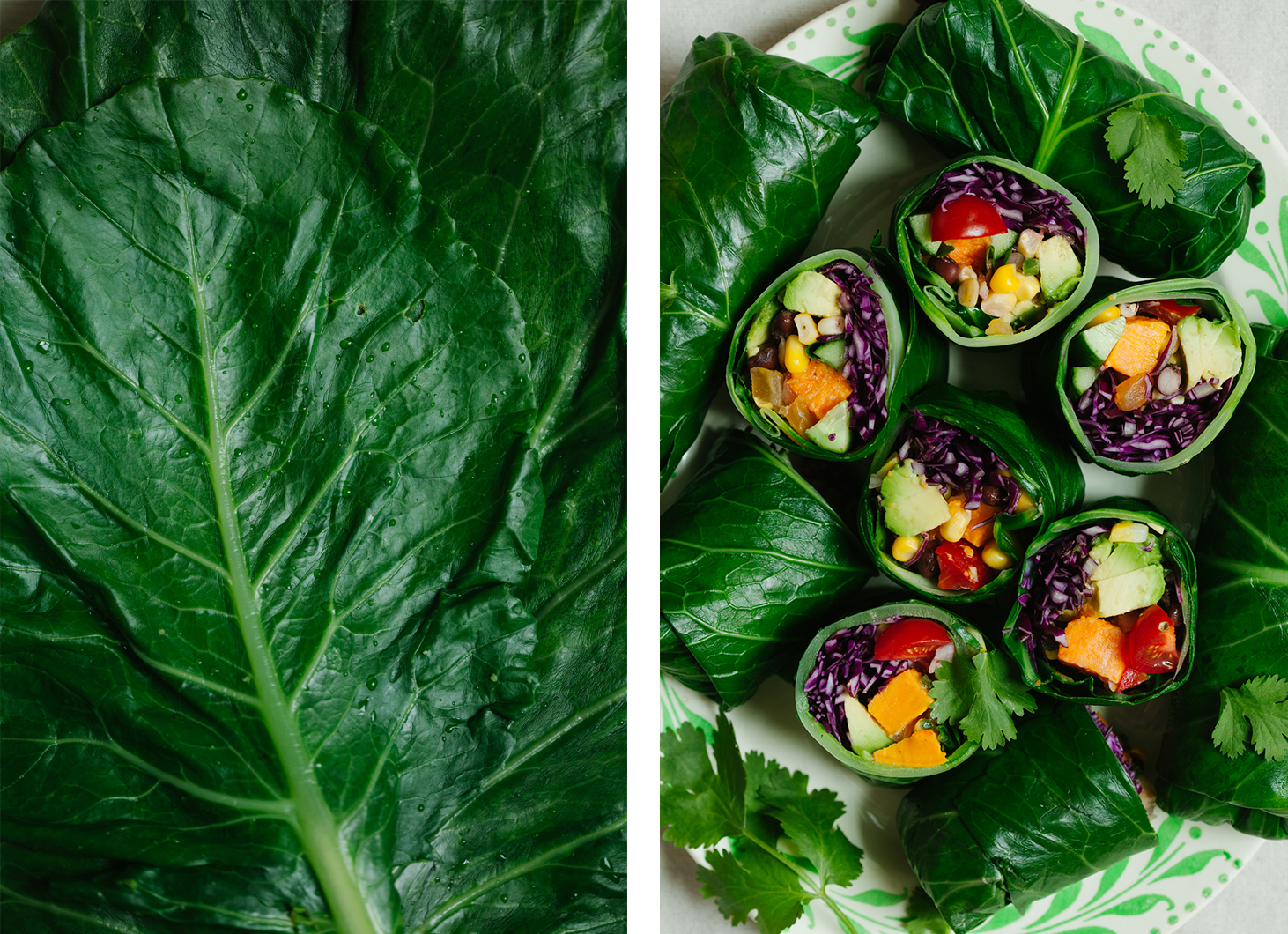 Taco Collard Green Rolls | Golubka Kitchen