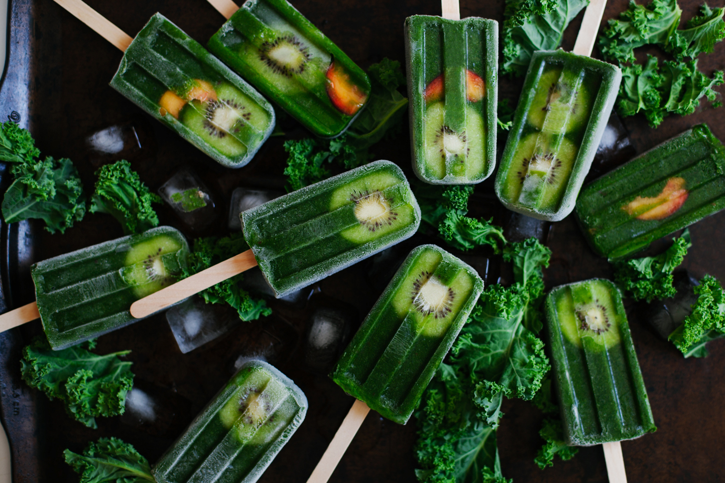 Green Smoothie Pops | Golubka Kitchen