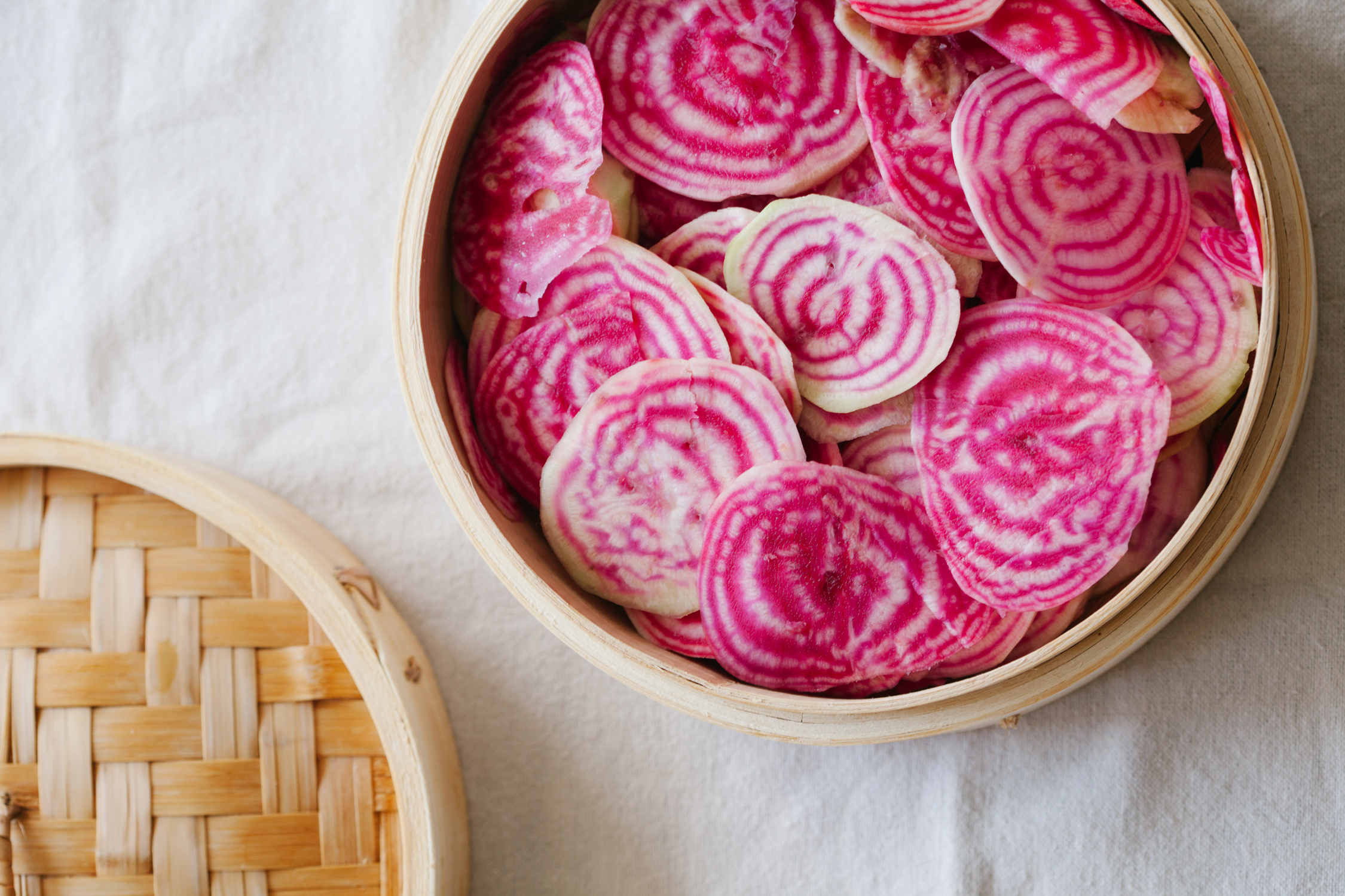 Candy Beets in Bamboo Steamer | Golubka Kitchen