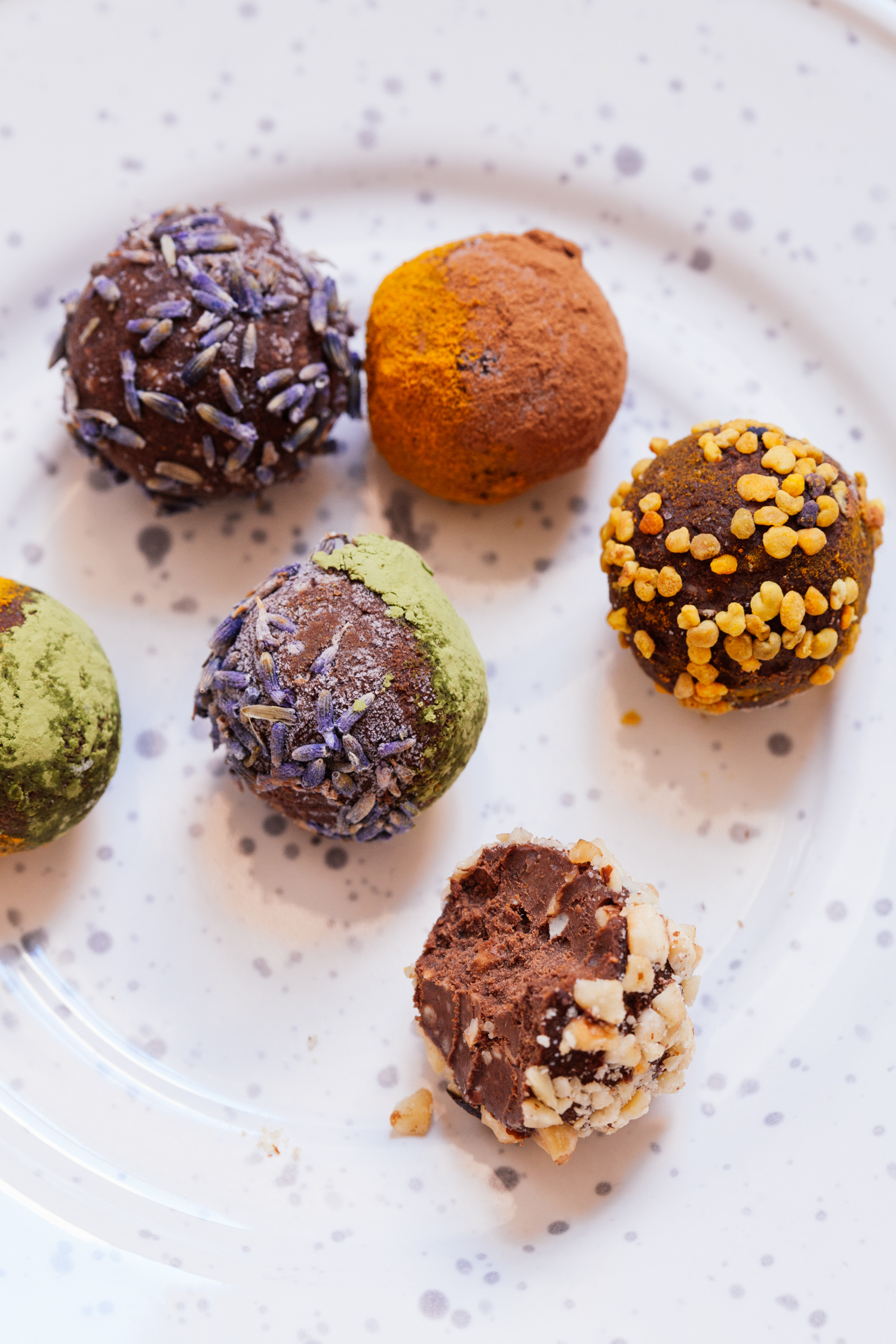 Cosmic Sweet Potato Chocolate Truffles | Golubka Kitchen