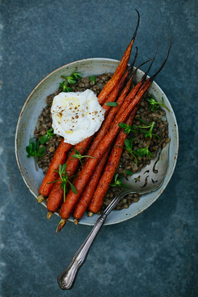 Spice-Roasted Carrots with Lentils from Modern Potluck (& a Giveaway)