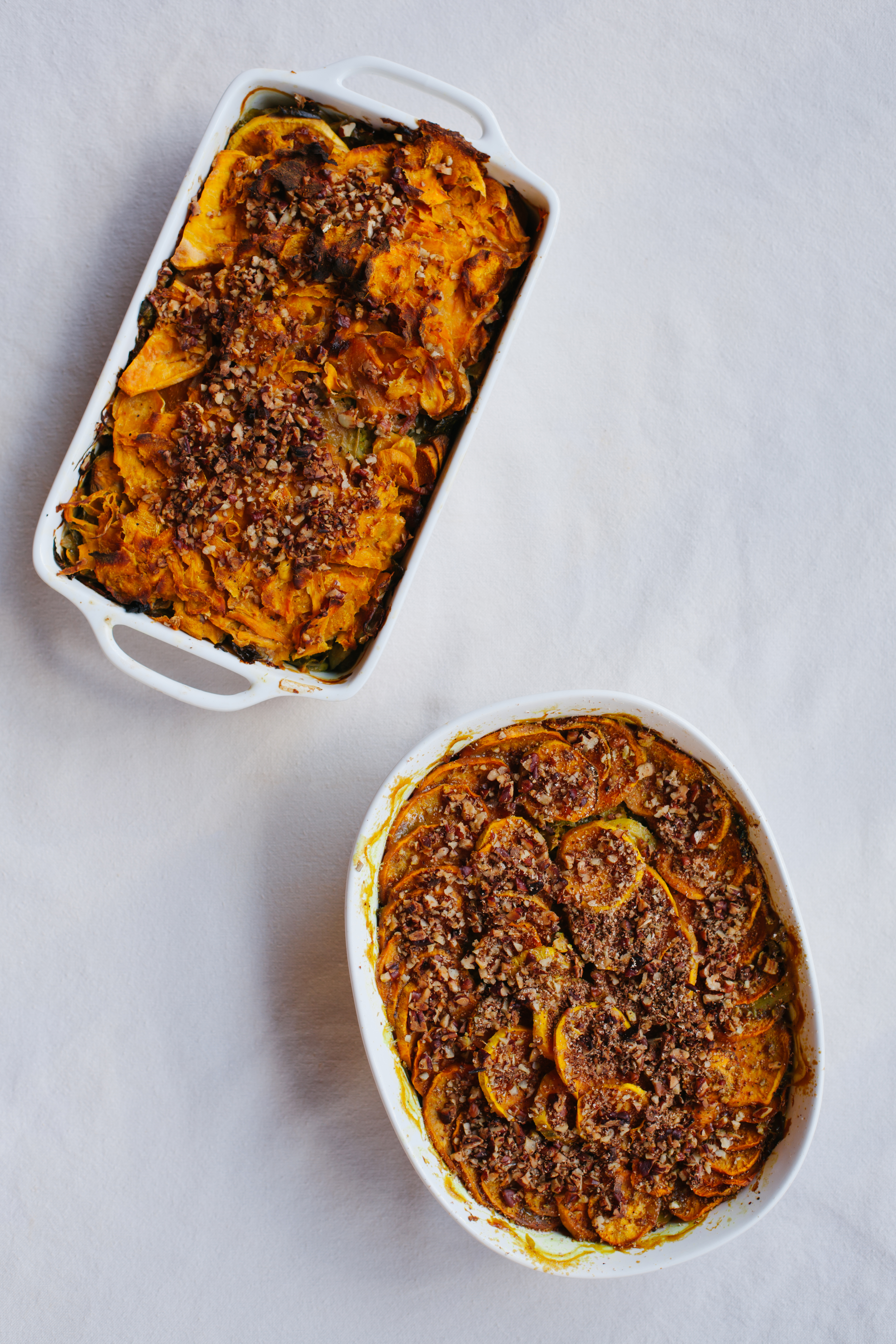 Sweet Potato Brussels Sprout Gratin | Golubka Kitchen