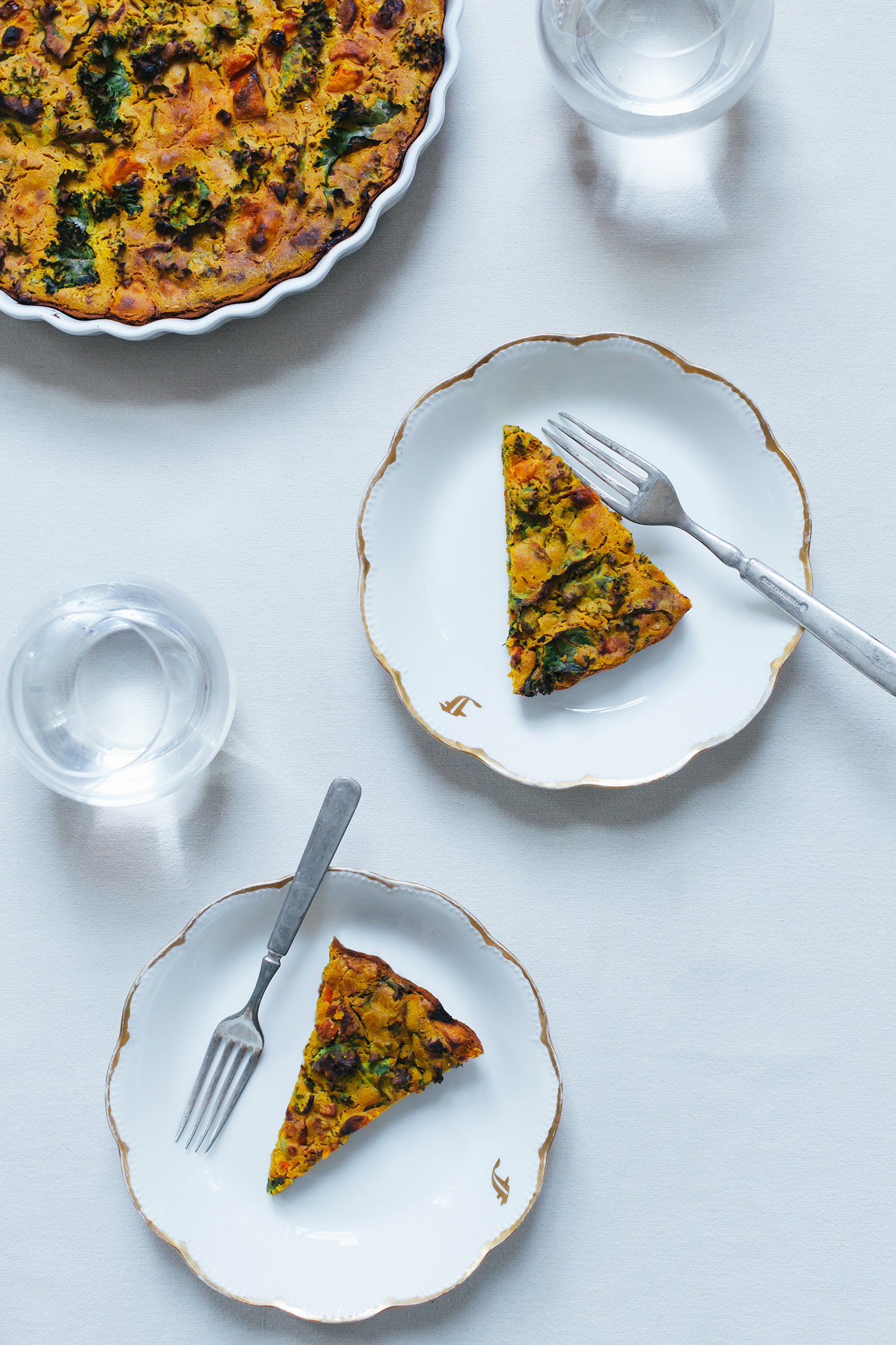 Root Vegetable Chickpea Flour Quiche - Golubka Kitchen