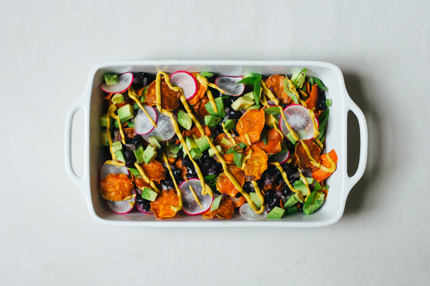 Sweet Potato Nachos with Cheesy Chipotle Sauce and All the ...