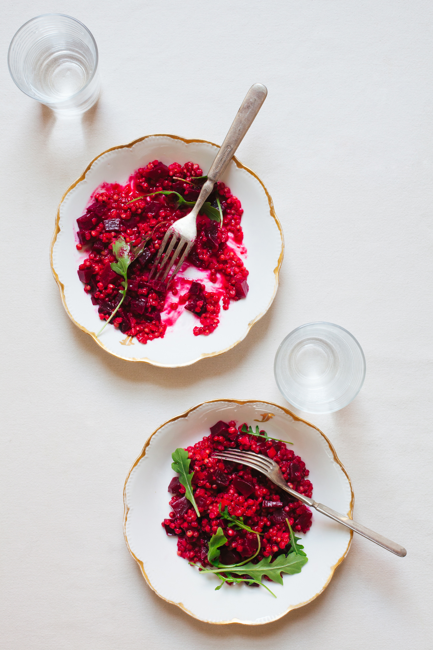 Sorghum Beet Risotto - Golubka Kitchen