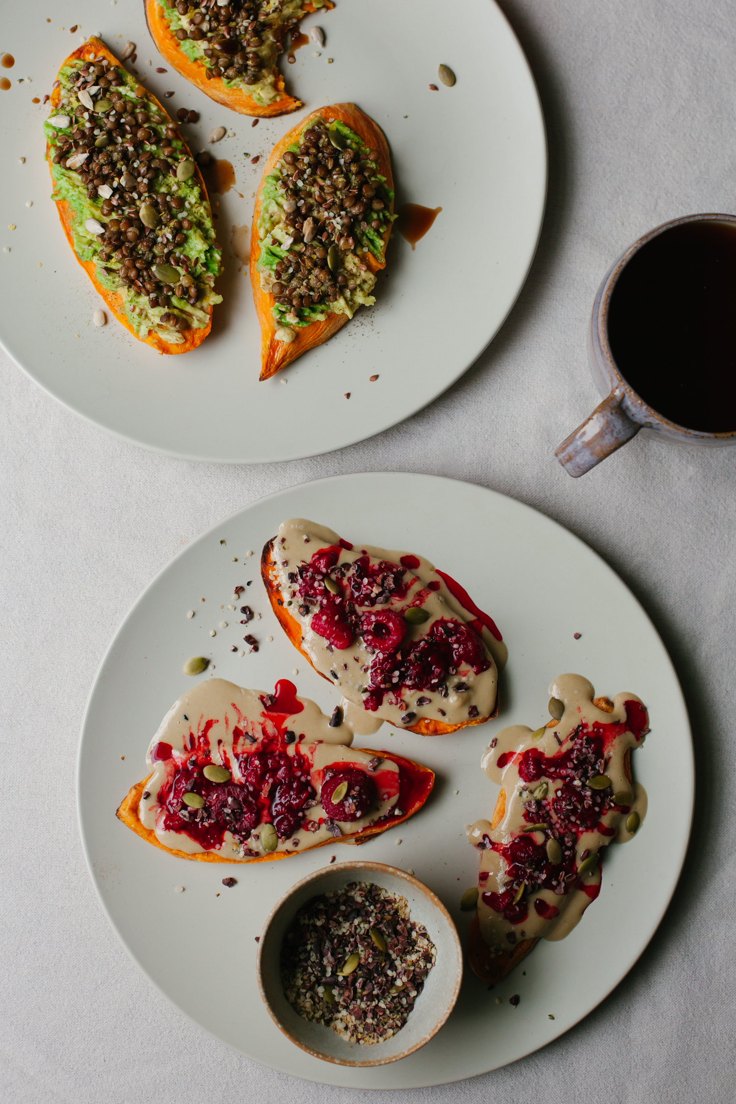 Sweet Potato Toast, Two Ways - Golubka Kitchen