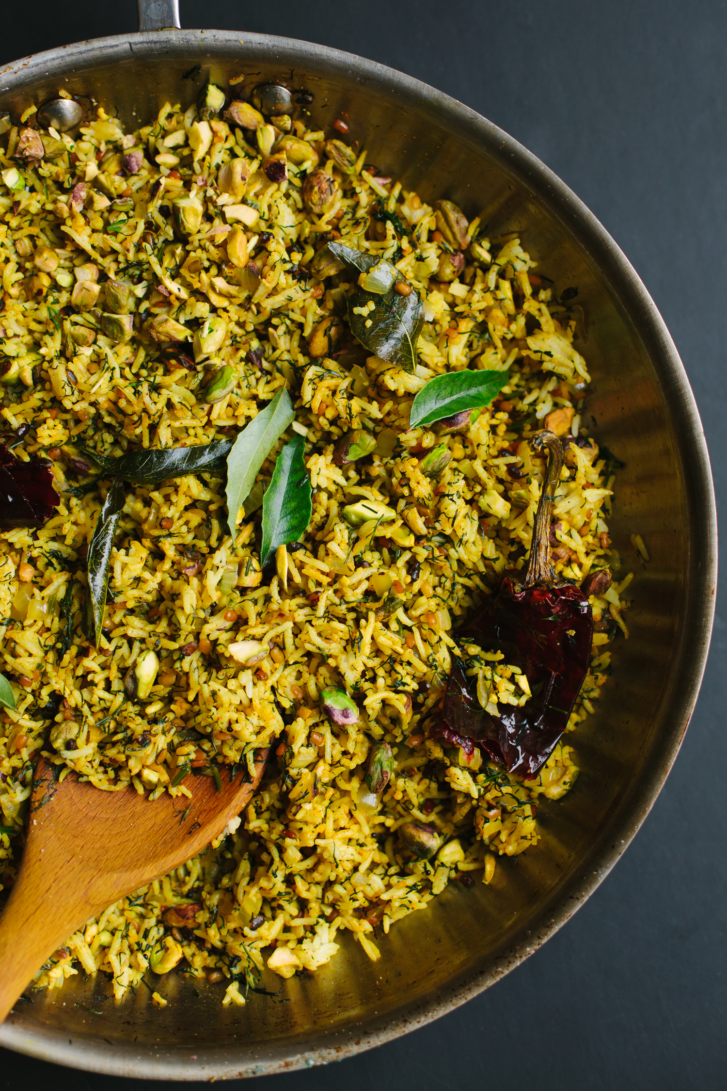 Lime and Dill Rice with Pistachios from Vibrant India - Golubka Kitchen