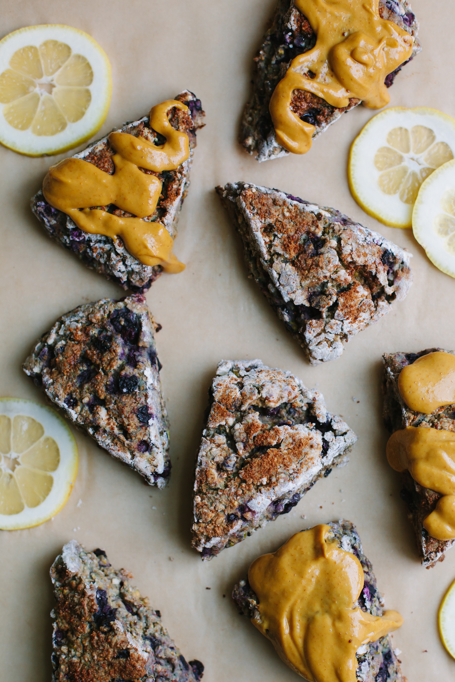 Gluten-Free Blueberry Lemon Scones - Golubka Kitchen