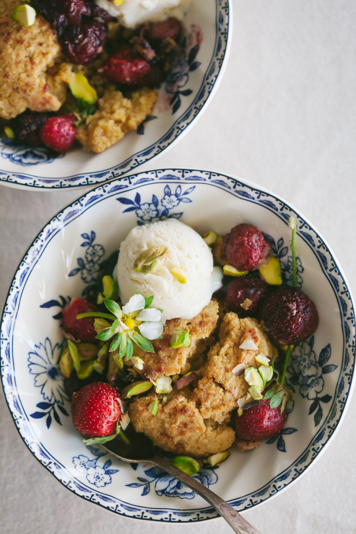 Gluten-Free Strawberry Cobbler - Golubka Kitchen