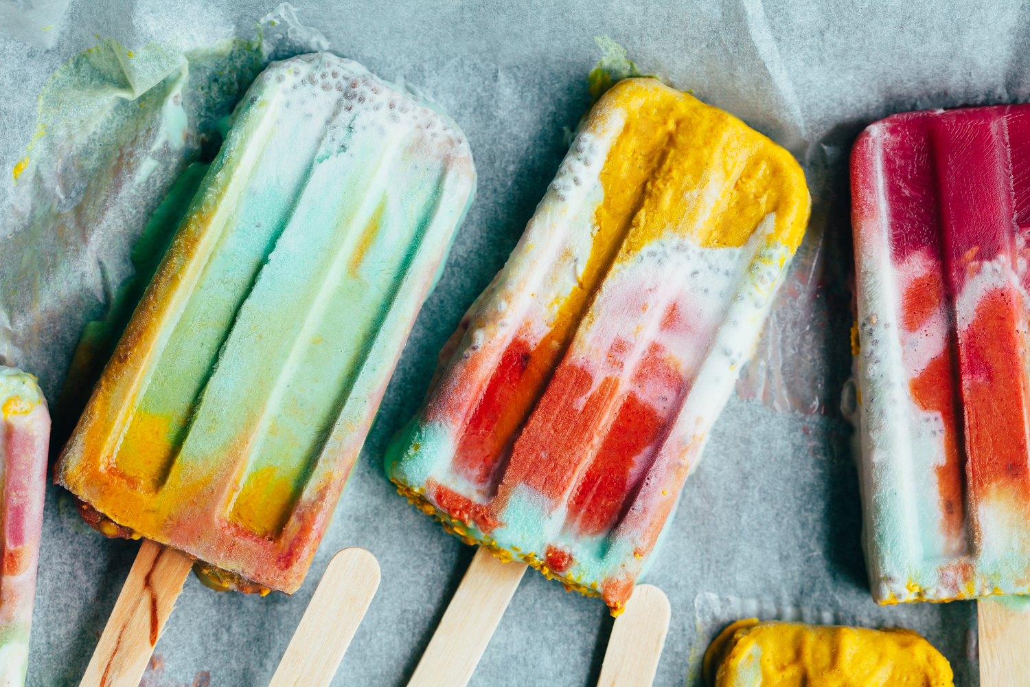 Superfood Tie Dye Pops - Golubka Kitchen