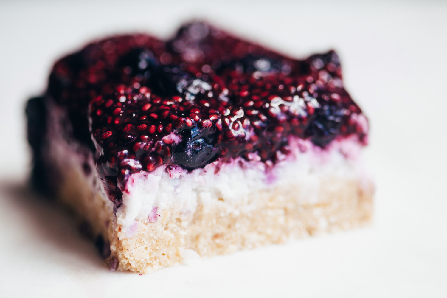 No Bake Blueberry Coconut Bars - Golubka Kitchen