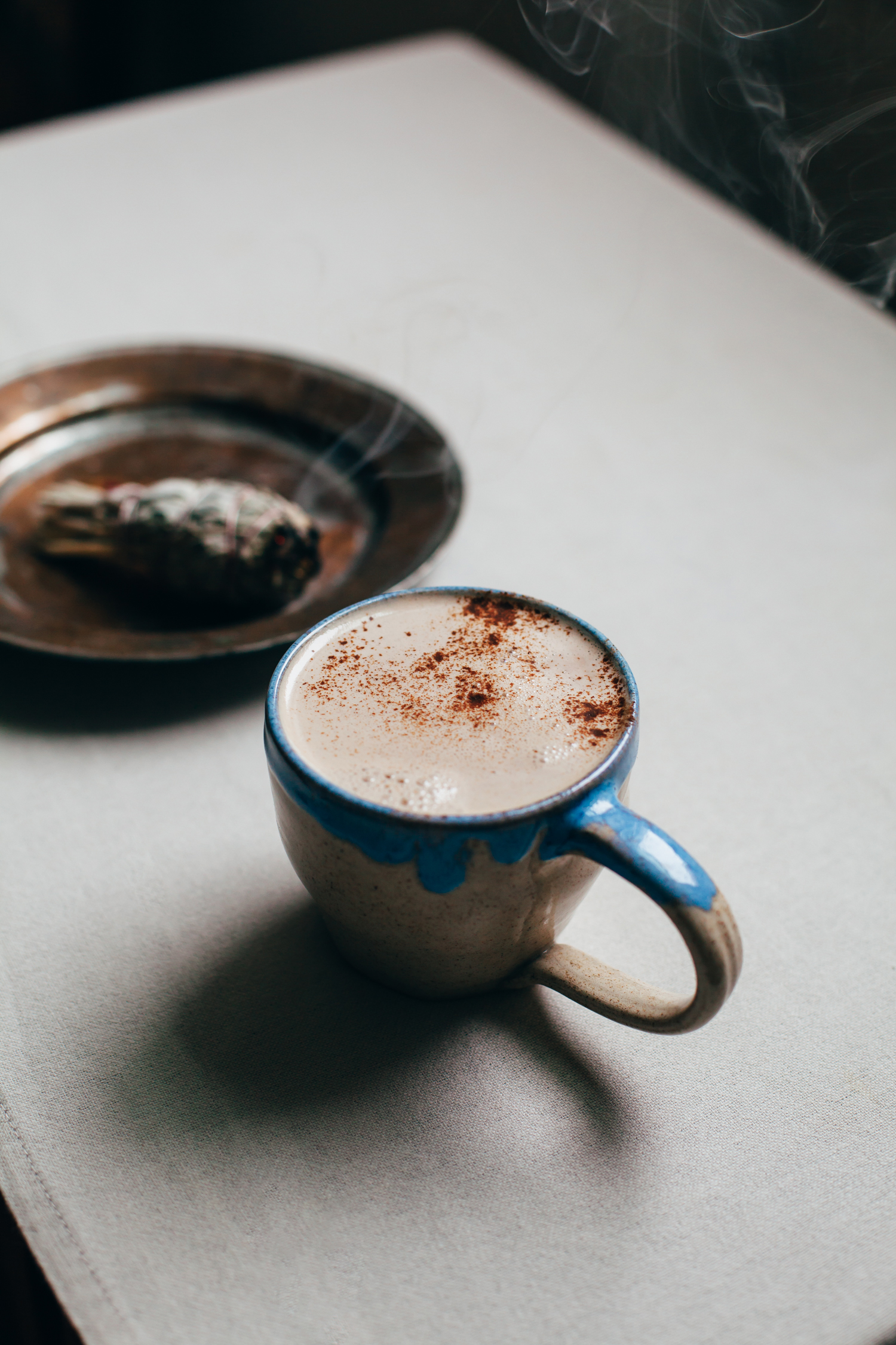 No-Recipe Cozy Vegan Latte - Golubka Kitchen
