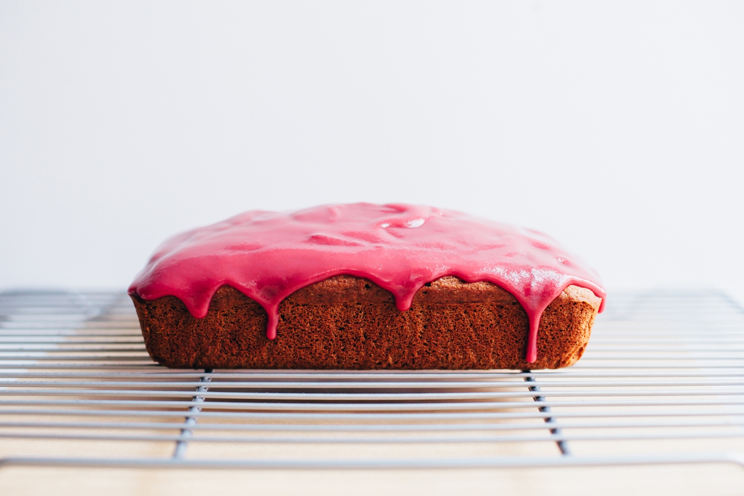 Olive Oil Loaf with Hibiscus Beet Icing - Golubka Kitchen