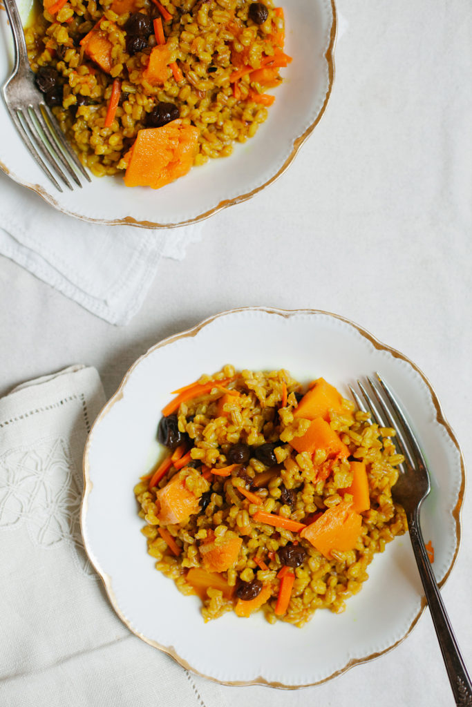 Bukhara Farro Pilaf from Simply Vibrant