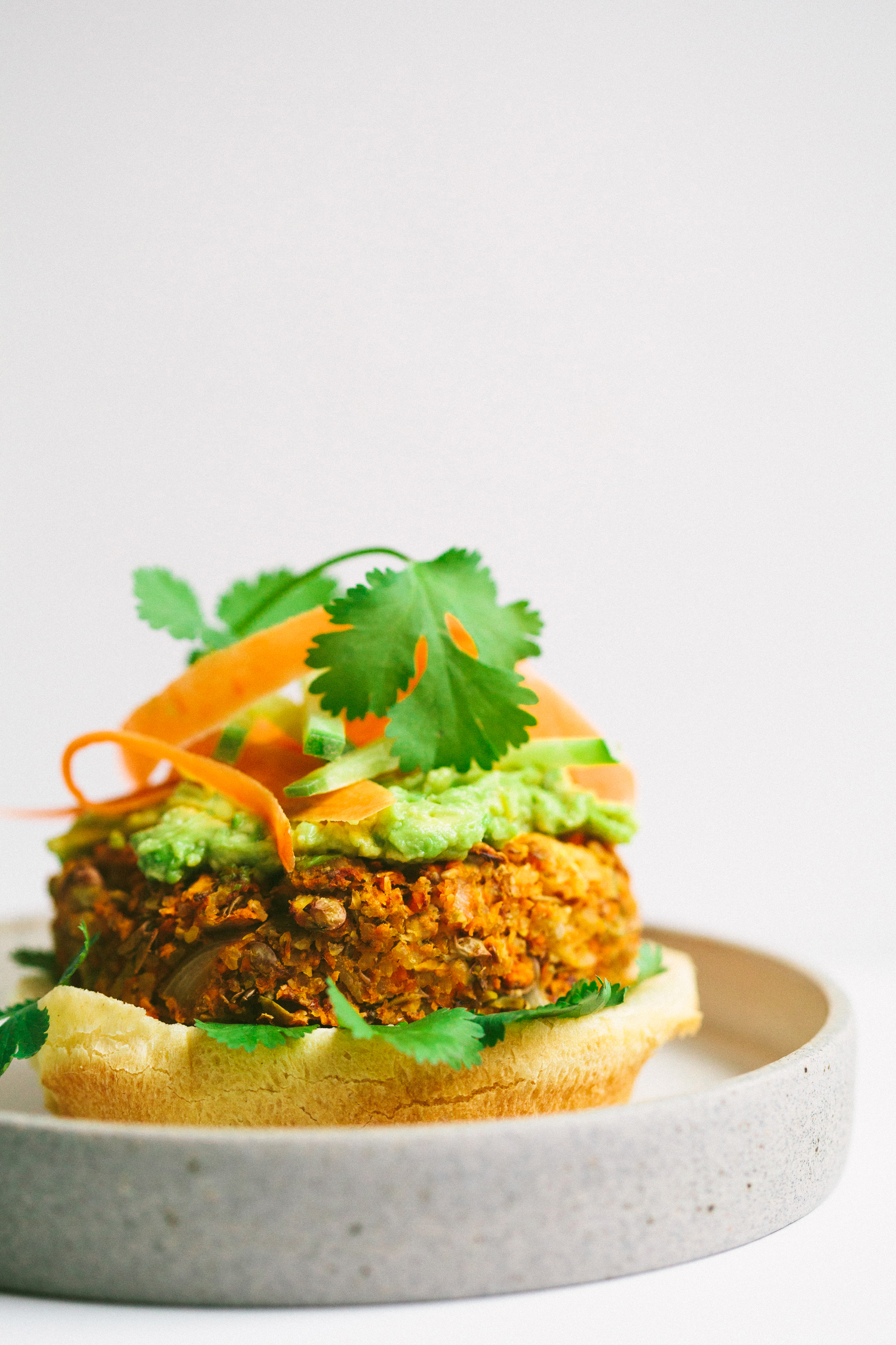 Sweet Potato Lentil Veggie Burgers - Golubka Kitchen