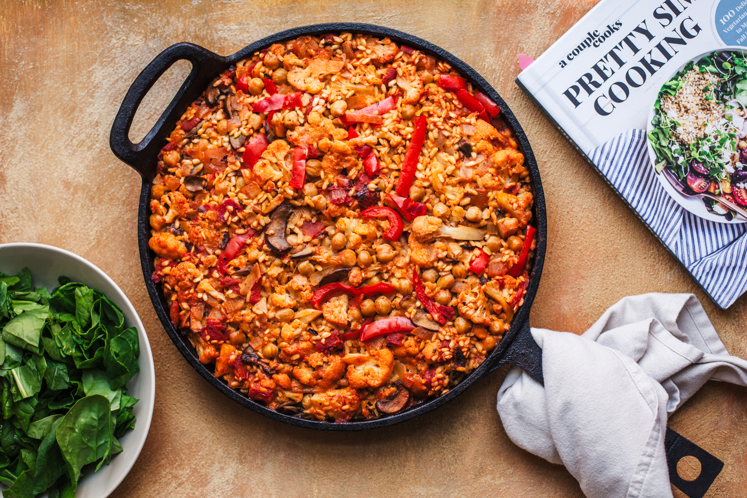 Veggie Supreme Paella From Pretty Simple Cooking - Golubka Kitchen