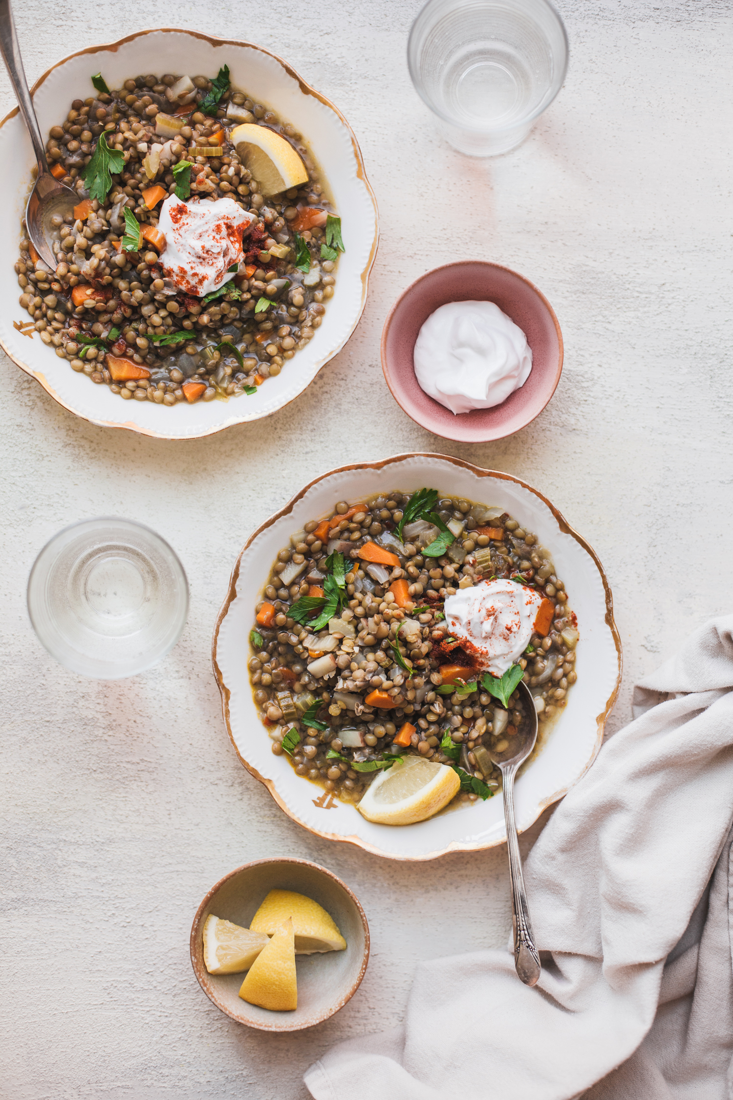 The Simplest Lentil Soup from Abruzzo - Golubka Kitchen