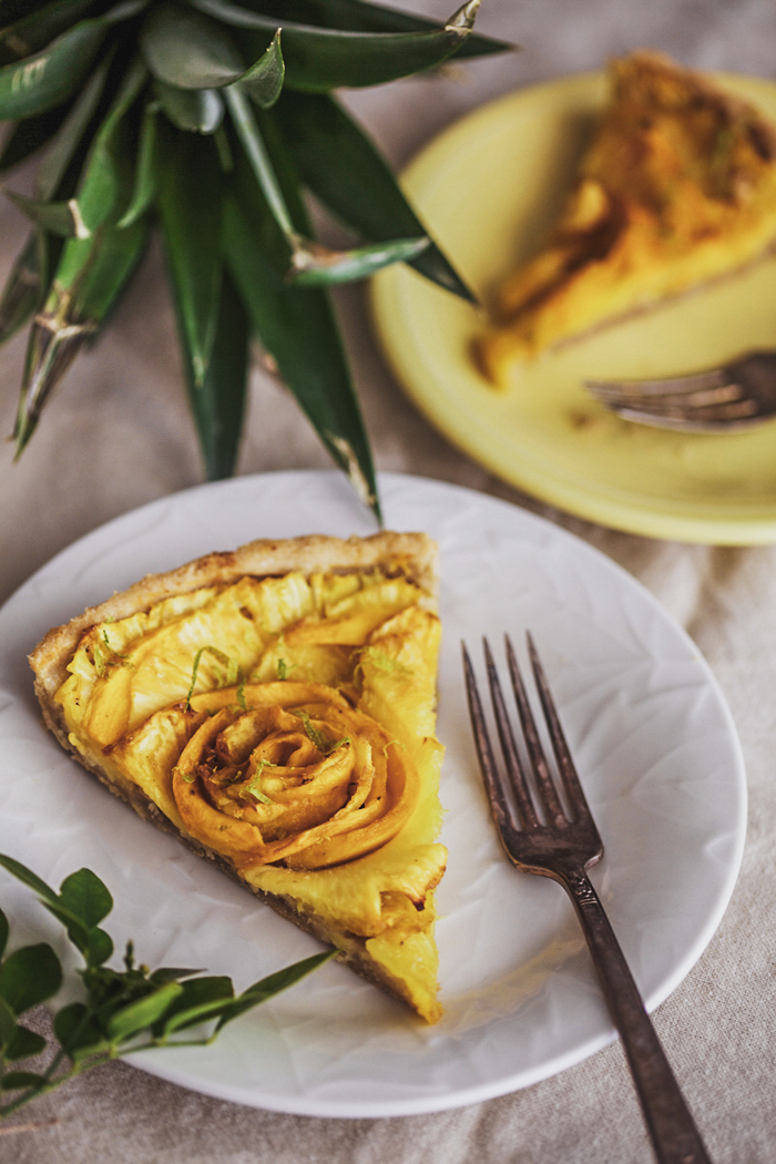 Pineapple and Mango Tart - Golubka Kitchen
