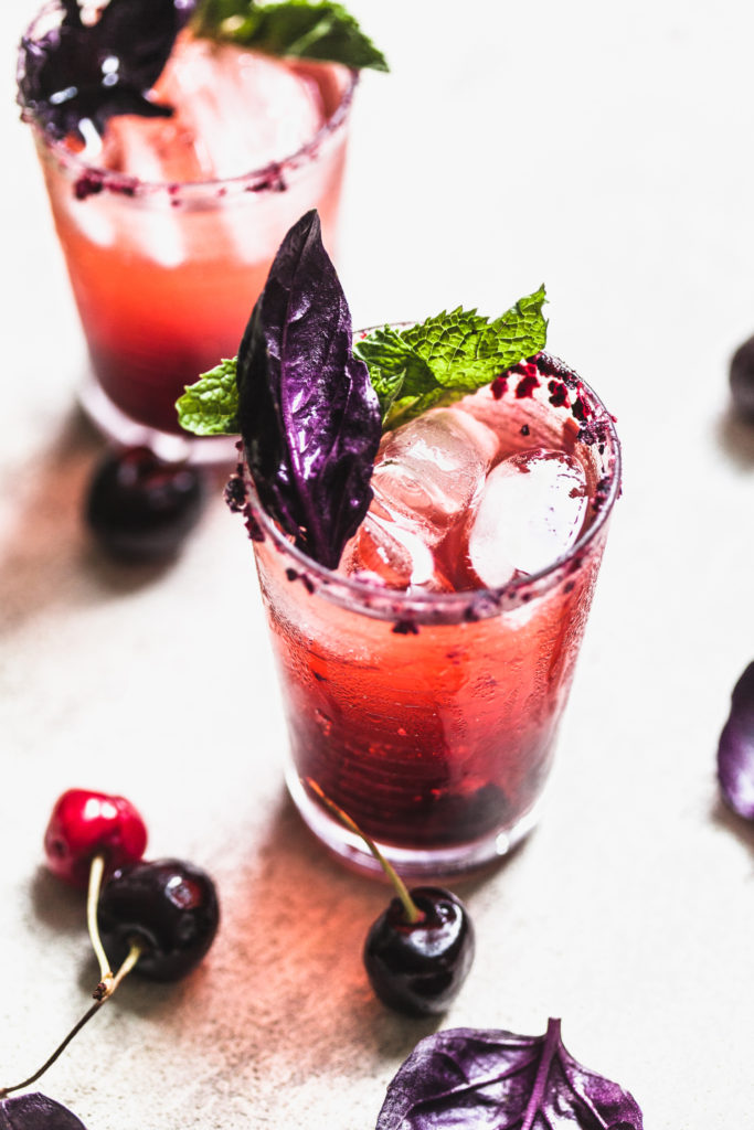 Cherry Syrup + Cherry Kombucha Mocktail