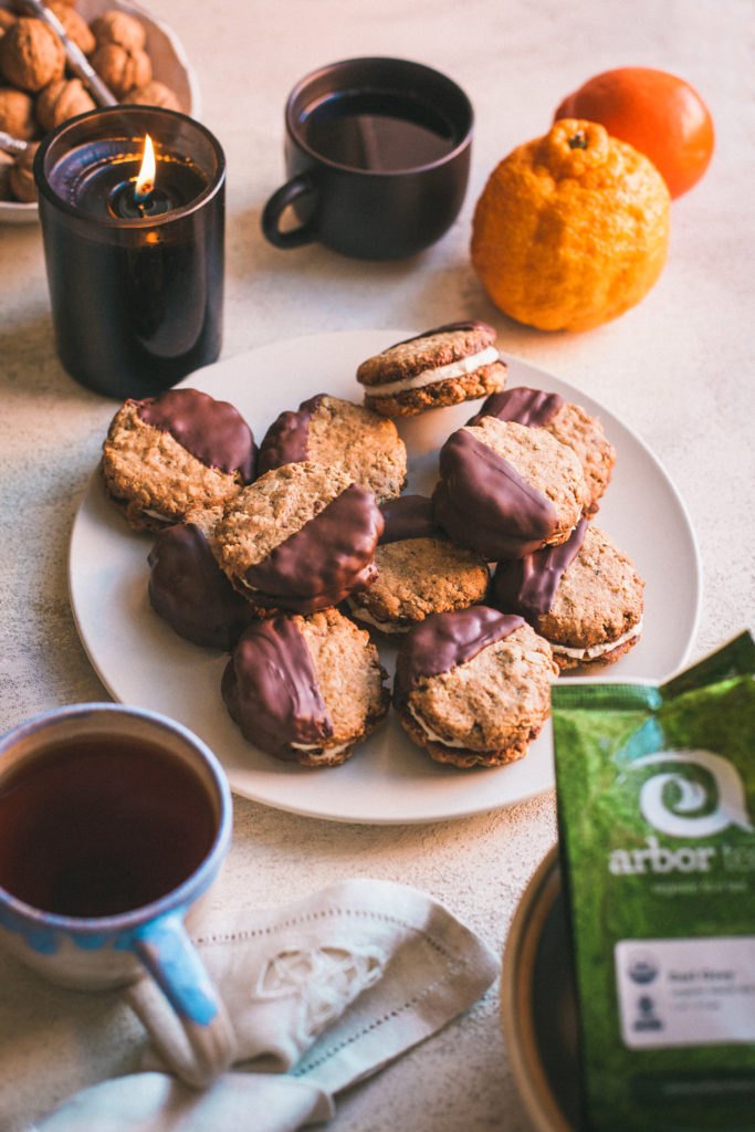 Earl Grey Tea Sandwich Cookies, Vegan and Gluten-Free + Giveaway