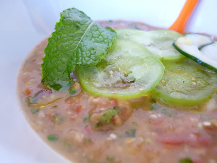 Mint and Tomatillo Gazpacho