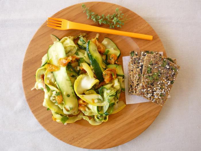 Summer Squash Herb Salad