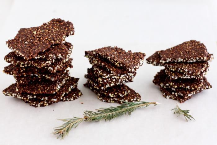 Buckwheat and Quinoa Chocolate Bark