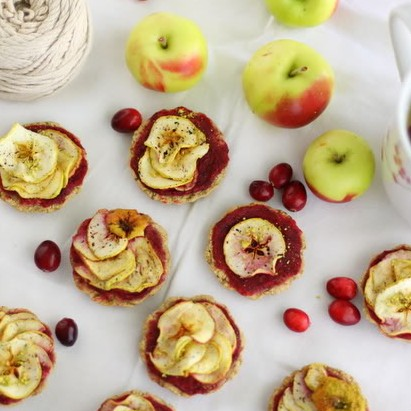 Raw Lady Apple and Cranberry Cookies