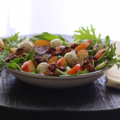 Lemon Plum Salad with a Poppy Seed Dressing