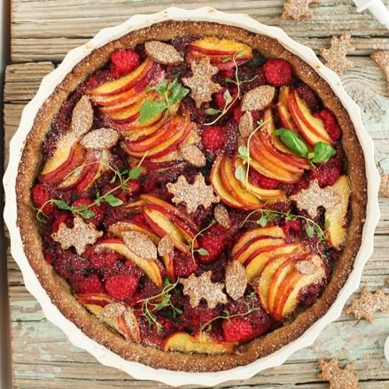 Peach and Raspberry Summer Tart and a Guest Post for Scandi Foodie