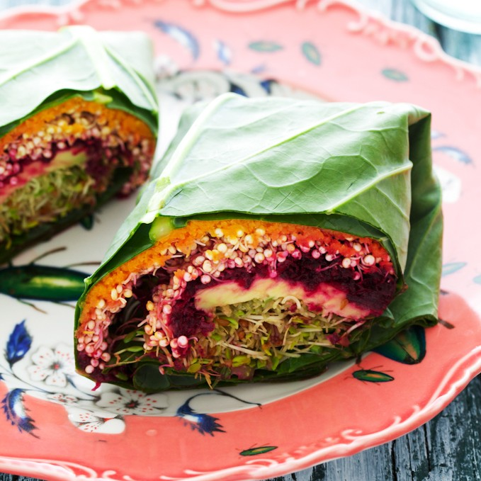 Quinoa Collard Wraps from the Sprouted Kitchen Cookbook