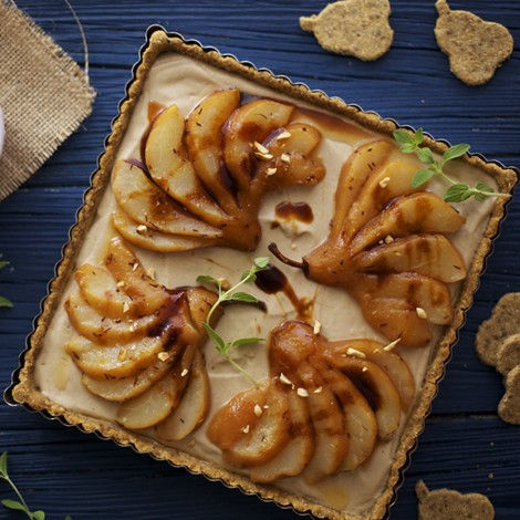 Rooibos Poached Pear Tart