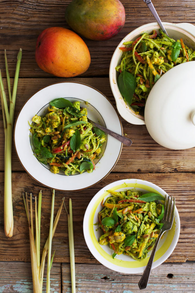 Lemongrass Mango Curry with Toasted Pumpkin Seeds