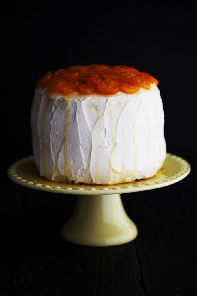 Parsnip Cake with Candied Kumquats
