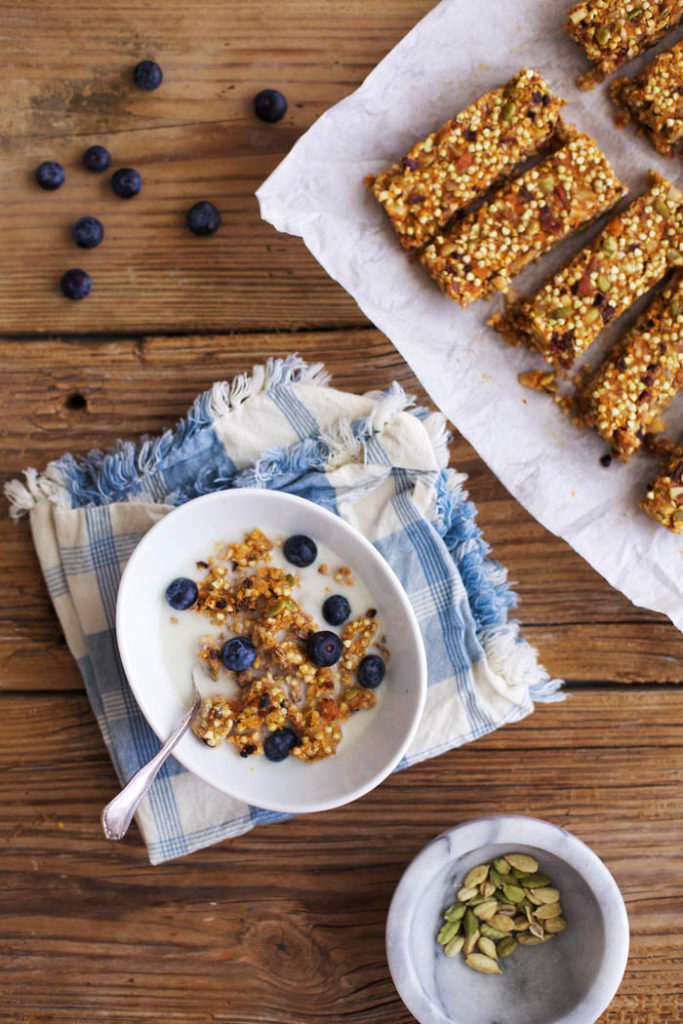 Sweet Potato Buckwheat Snack Bars with Cardamom
