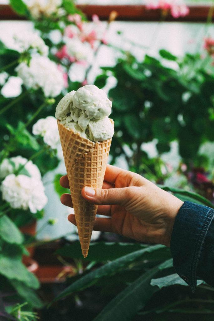 Tarragon and Mint Ice Cream