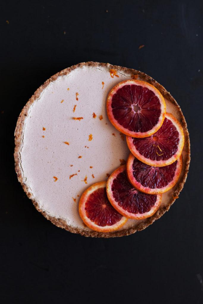 White Chocolate Blood Orange Mousse Tart