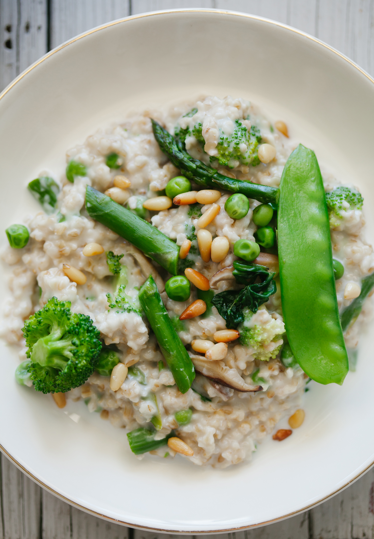 Creamy Spring Steel Cut Oats - Golubka Kitchen3
