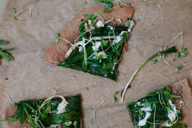 Ramp Flatbread Pizza - Golubka Kitchen5