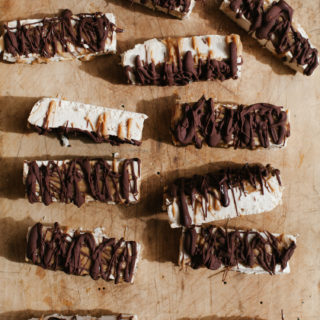 Tahini Ice Cream Bars with Miso Caramel and Chocolate | Golubka Kitchen