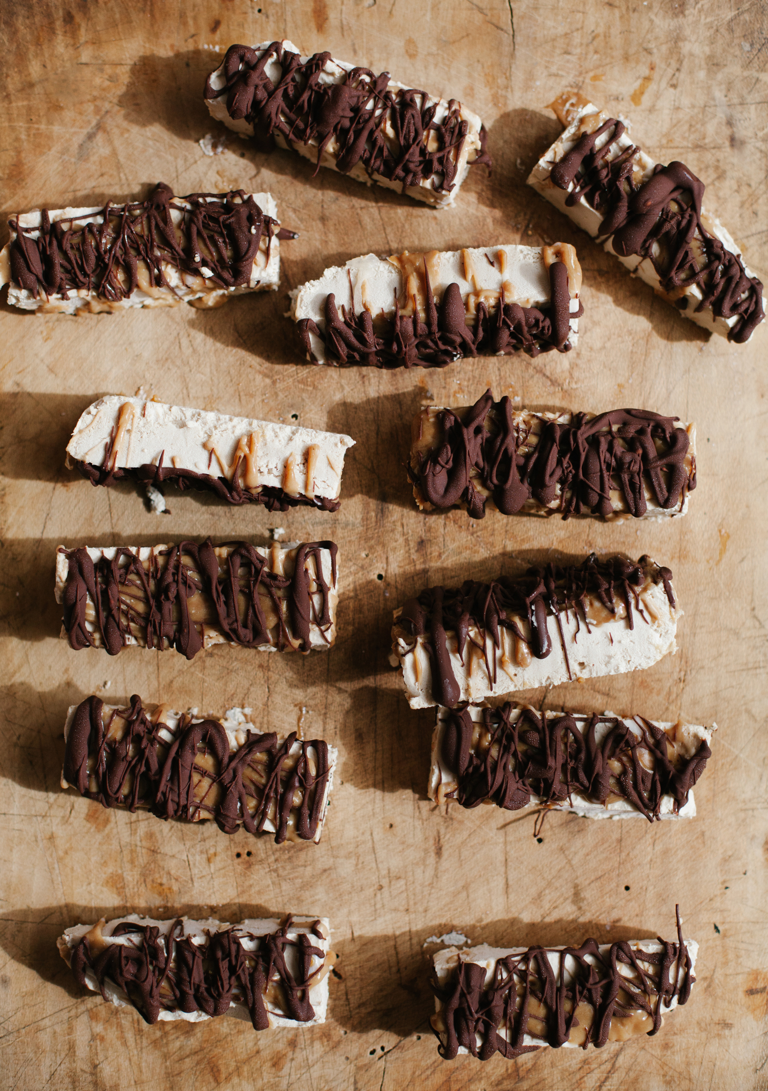 Tahini Ice Cream Bars with Miso Caramel and Chocolate | Golubka Kitchen