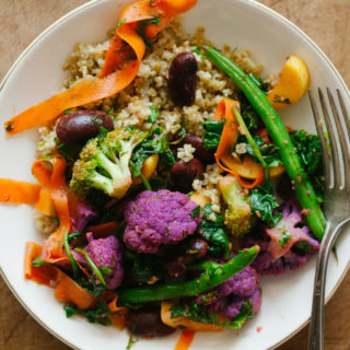 Marinated Summer Vegetables and Beans over Freekeh | Golubka Kitchen
